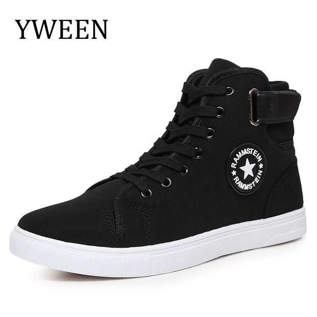 YWEEN Men Canvas Shoes Spring Autumn Top Fashion Lace-up High Style