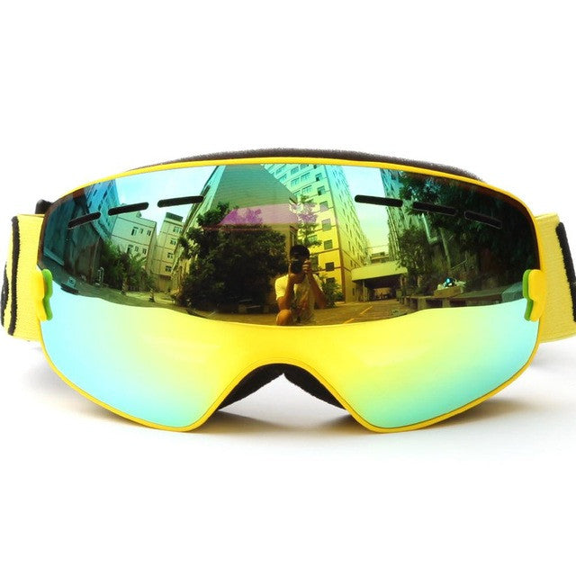 Brand Snowboard goggles Kids Double Lens UV400 Anti-fog Ski Snow