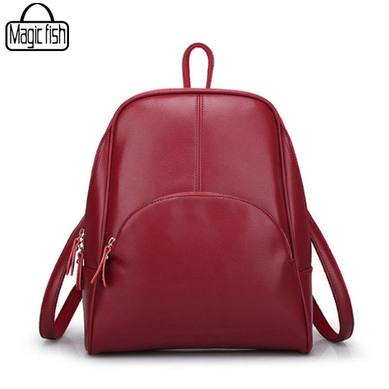 2017 Classical Design PU Leather Backpack Fashion Women Backpacks