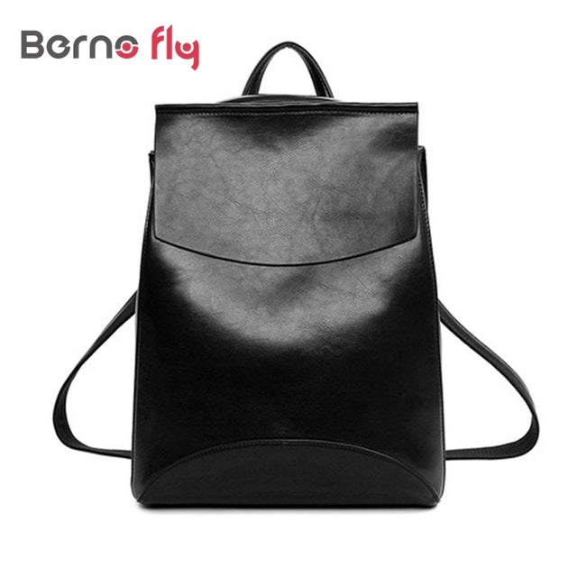 2017 Famous Brand Backpack Fashion Women Backpacks Solid vintage