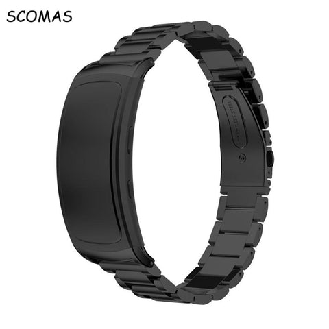 SCOMAS Replacement Stainless Steel Watch Bracelet Band for Samsung Gear Fit2 Wrist Watch Strap for Samsung Gear Fit 2 SM-R360