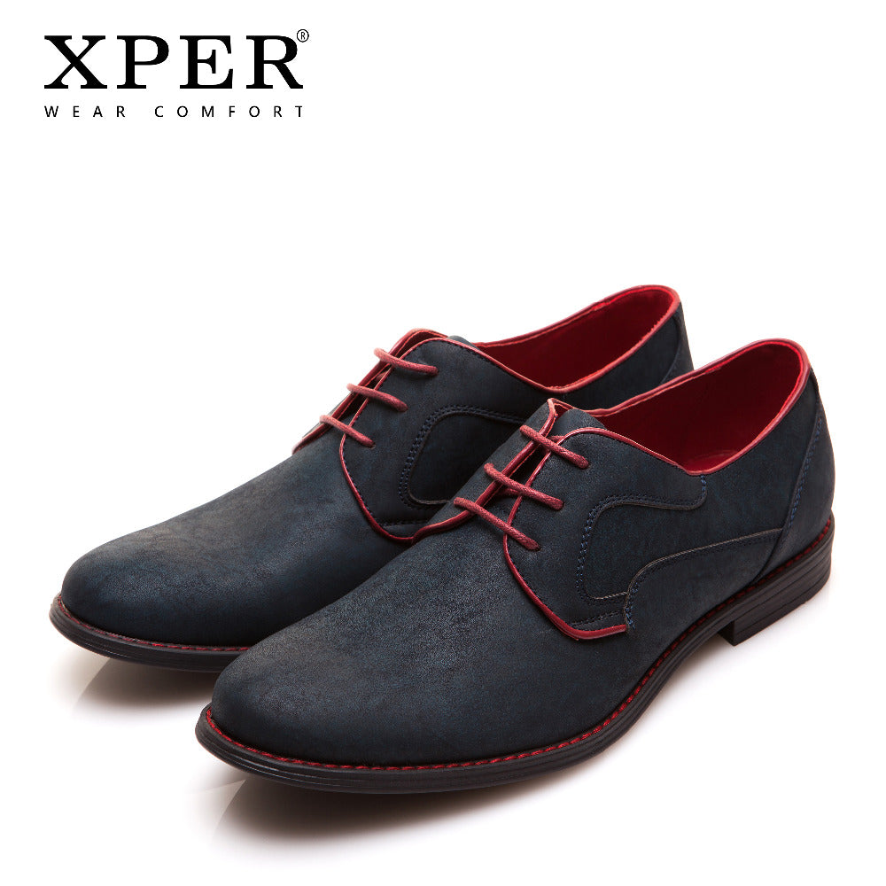 Size 40~46 Brand XPER Casual Men Dress Shoes Lace-Up Wear