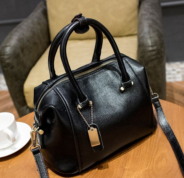 2017 Embossed Genuine Leather Boston Women Handbag Fashion Casual
