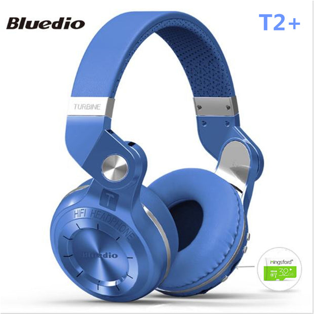 Original Bluedio T2+ Bluetooth 4.1 Foldable Headset Headphones