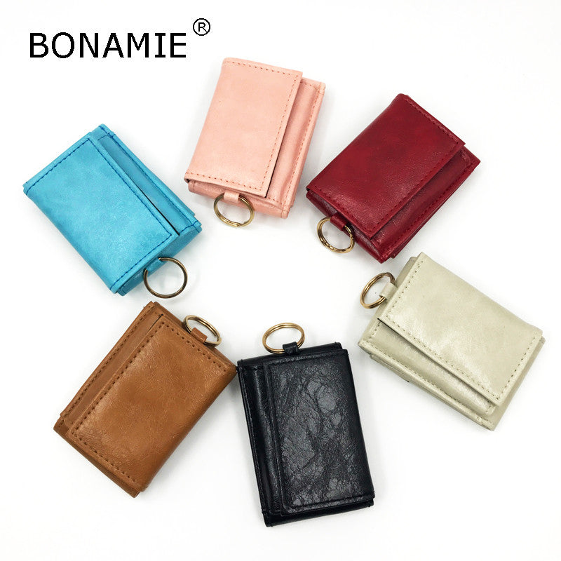 BONAMIE Bank Credit Card Holder Foldable Creative Women Cash Holder