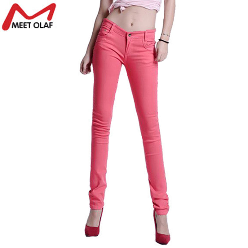 2017 Women Sexy Pencil Pants Spring Autumn Summer Candy Color Casual