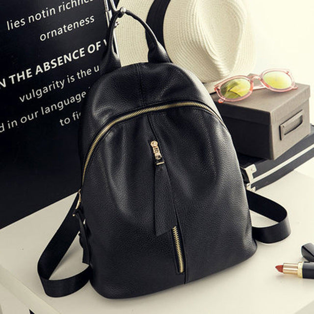 2017 Hot New Casual Women Backpack Female PU Leather Women's Backpacks