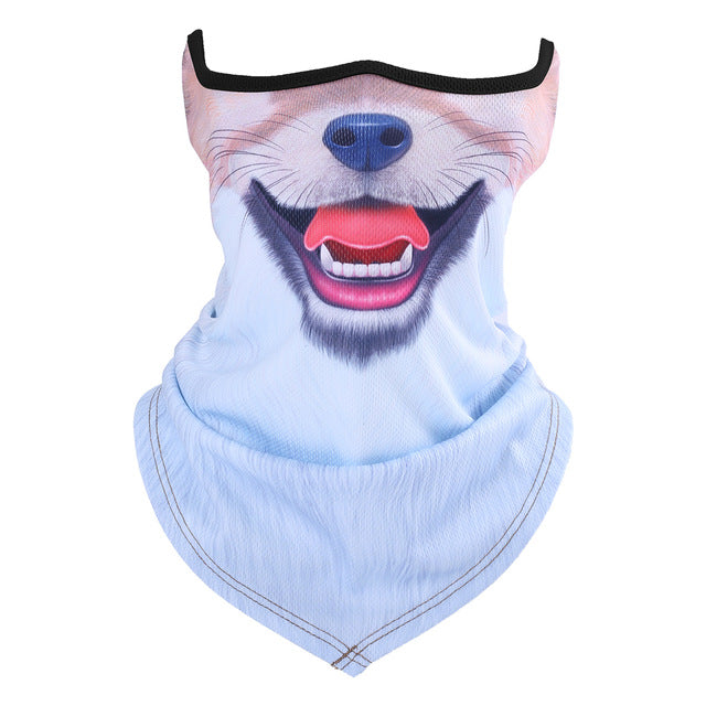 Animal Cat Dog Neck Half Face Mask Tube Motorcycle Bicycle Balaclava