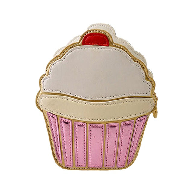 ASDS New Cute Cartoon Women Ice cream Cupcake Mini Bags PU Leather