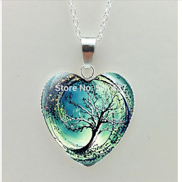2016 New Divergent Heart Necklace Divergent Tree Pendant Jewelry Women