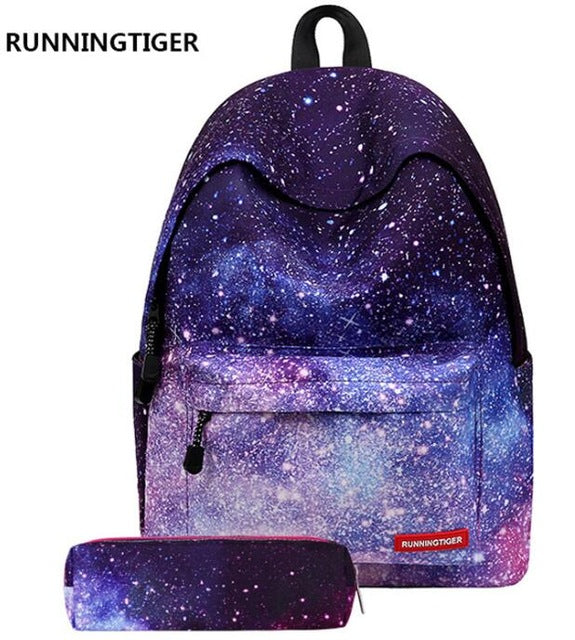 RUNNINGTIGER Women Shoulder Bags Printing Backpack With Pencil Case