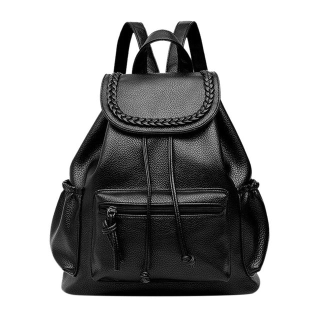 2017 Summer new college wind schoolbag washed leather backpack woman
