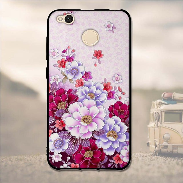 "3D Pattern Case For Xiaomi Redmi 4X Case 5.0"" Soft TPU Silicone Back"