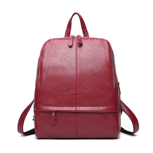 Bolish Hot Sale PU leather Women Backpack Fashion Preppy Style