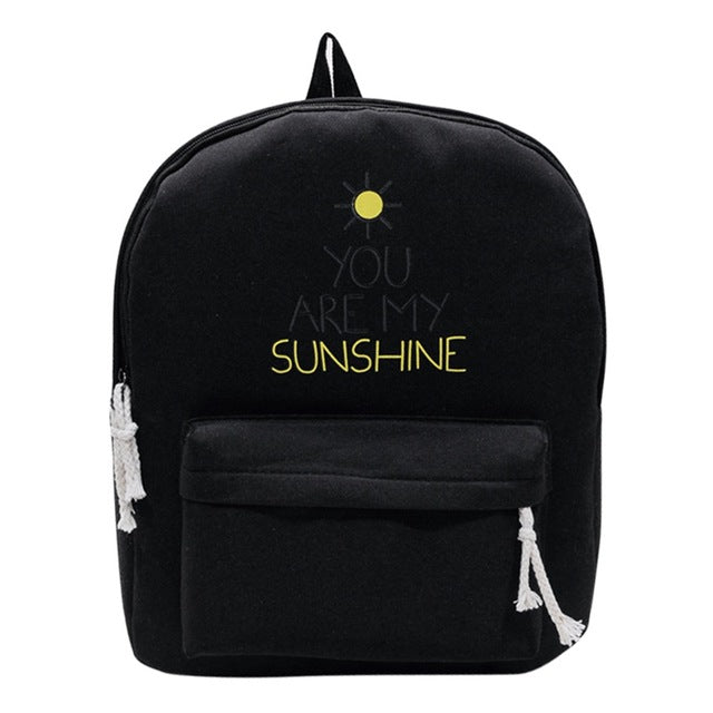 Brand Canvas Women Backpack Causal Travel Bags Sunny Girl School