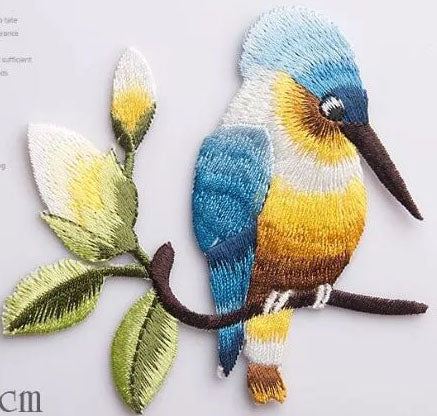 Birds Patch Embroidery Iron On Patches For Clothes Dresses DIY