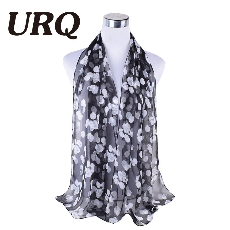 2017 hot Sale Cute Dots long soft scarfs wrap shawl for elegant