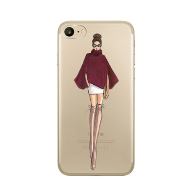 2017 Sexy Travel Beautiful Girl drink Phone Case For Apple iPhone 8