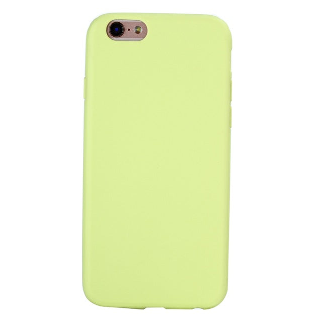 XBXCase Macarons Color TPU Silicone Frosted Matte Case for iPhone 6 6S