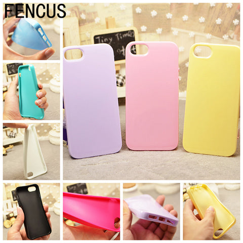 Soft Case Candy Color Fashion Phone Accessories Slim Back TPU Silicone Cover for Apple iPhone 5C 5SE 6 6S 6PLUS 7 7PLUS Cover