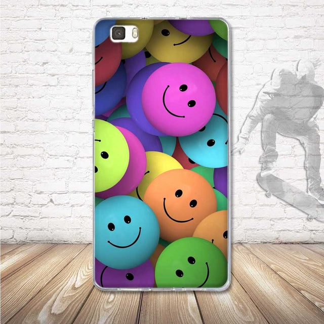 3D Painted Mobile Phone Case for Huawei P8 Lite Silicon Protective