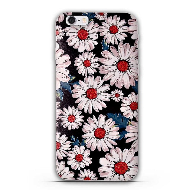 2016 New Luxury Printed 5s Soft TPU Phone Cover Case For iPhone 5 5S