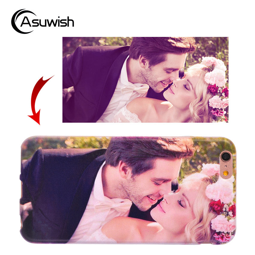 Asuwish Custom Silicone Phone Case For Apple For iPhone X 8 7 Plus 6