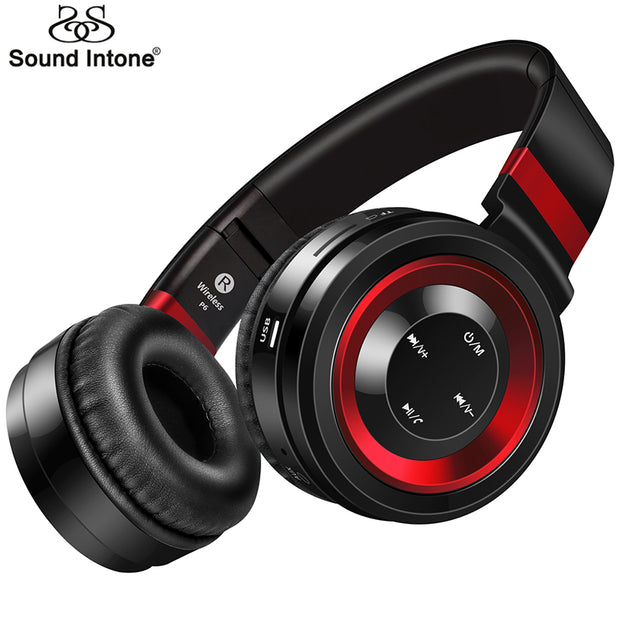 Sound Intone P6 Bluetooth Headphone With Mic Wireless Headphones