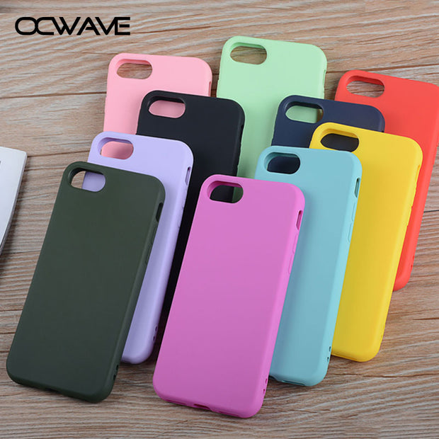 OCWAVE Silicone case for iPhone 7 Plus 8 Plus soft TPU material