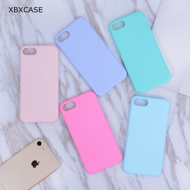 XBXCase Candy Color TPU Rubber Silicone Case for iPhone 7 7Plus