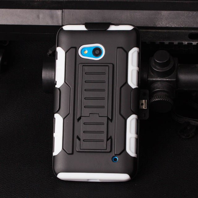 BROEYOUE For Nokia Lumia 640 Case Impact Holster Shockproof Phone