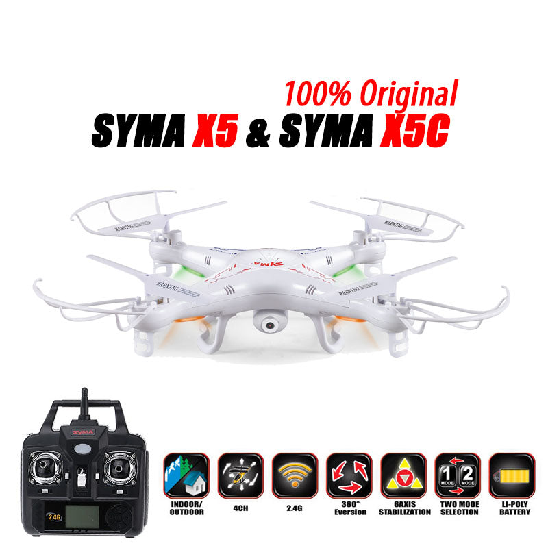 100% Original SYMA X5C (Upgrade Version) RC Drone 6-Axis Remote