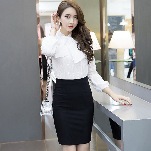 Autumn 5XL Plus Size Slim Sexy Formal Office Skirt Faldas Women