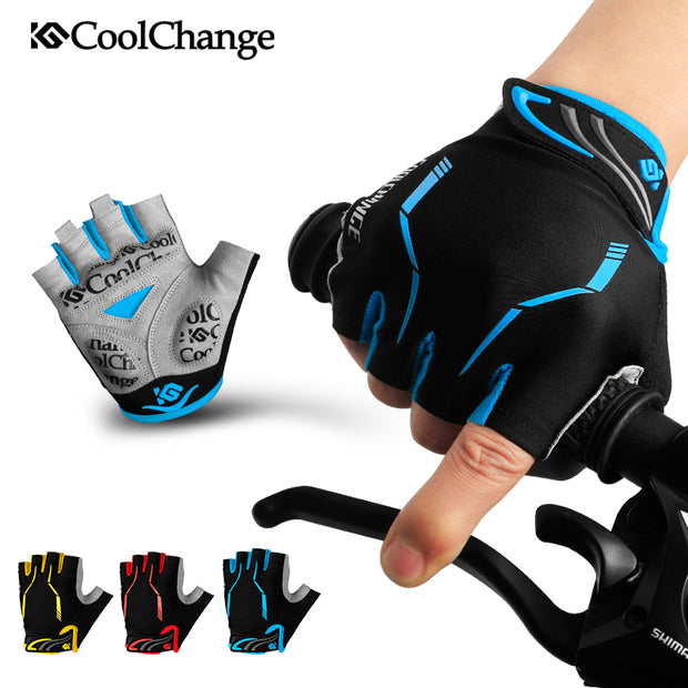 CoolChange Cycling Gloves Half Finger Mens Women's Summer Sports