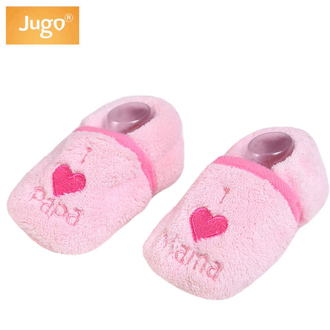 Baby Slippers Shoes Girls Winter Warm Lovely Flock First Walkers Bears Heart Boys Crib Shoes Winter Infant Shoes bebek ayakkabi