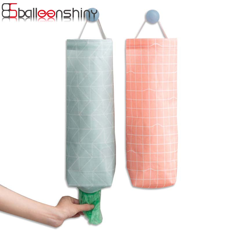 BalleenShiny Hanging Kitchen Garbage Bag Storage Packing Organiser
