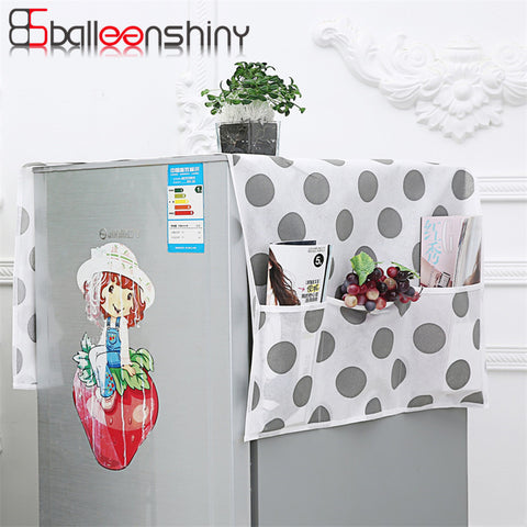 BalleenShiny Refrigerator Dust Proof Cover Lattice Muti-Functional Fridge Pouch Organizer Storage Bags Dual Purpose Kitchen Tool