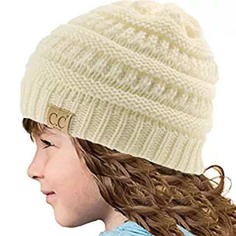 8 Colors Winter Child Girls Boys Knitted Skullies Beanies for Kids Warm Knit Hat Fashion 2017 Knitting Cap Outfit Female