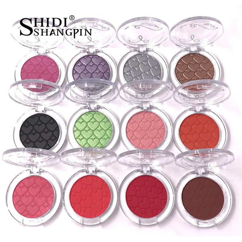 Single Color 28 Colors Eyeshadow Palette Makeup Cosmetic Mirror Waterproof Matte Glitter Eyeshadow Pallete Make Up Eye Shadow