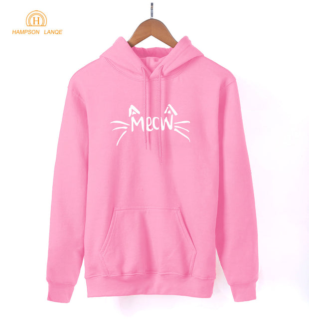 Girls Kawaii Hoodies Meow Emoji Cat Ear Cute Sweatshirts 2018 Spring Autumn Long Sleeve Hoodie Tracksuit Women Kpop Pullovers