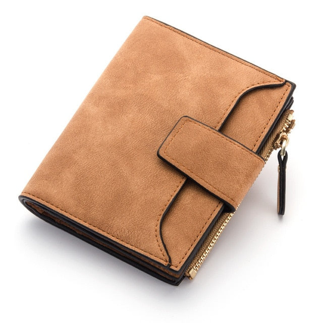 2018 leather women wallet hasp small and slim coin pocket purse women wallets cards holders luxury brand wallets designer purse