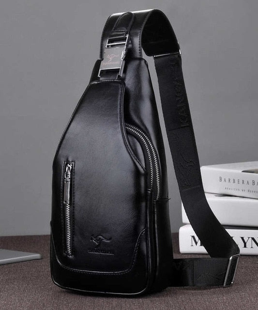 man's messenger bag Men shoulder PU leather Chest Bags Crossbody business Messenger bags Male charging Handbag with USB Charge