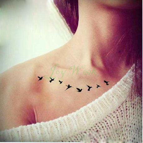 Waterproof Temporary Tattoo Sticker on body fly birds tattoo Water