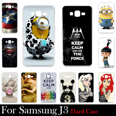 For Samsung Galaxy J3 Case Hard Plastic Cellphone Mask Case Protective Cover Housing Skin Mask