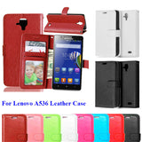 For Lenovo A536 Phone Bag Call Luxury Stand PU Leather Flip Case For Lenovo A 536 Phone Skin Cover With Card Holder Shell