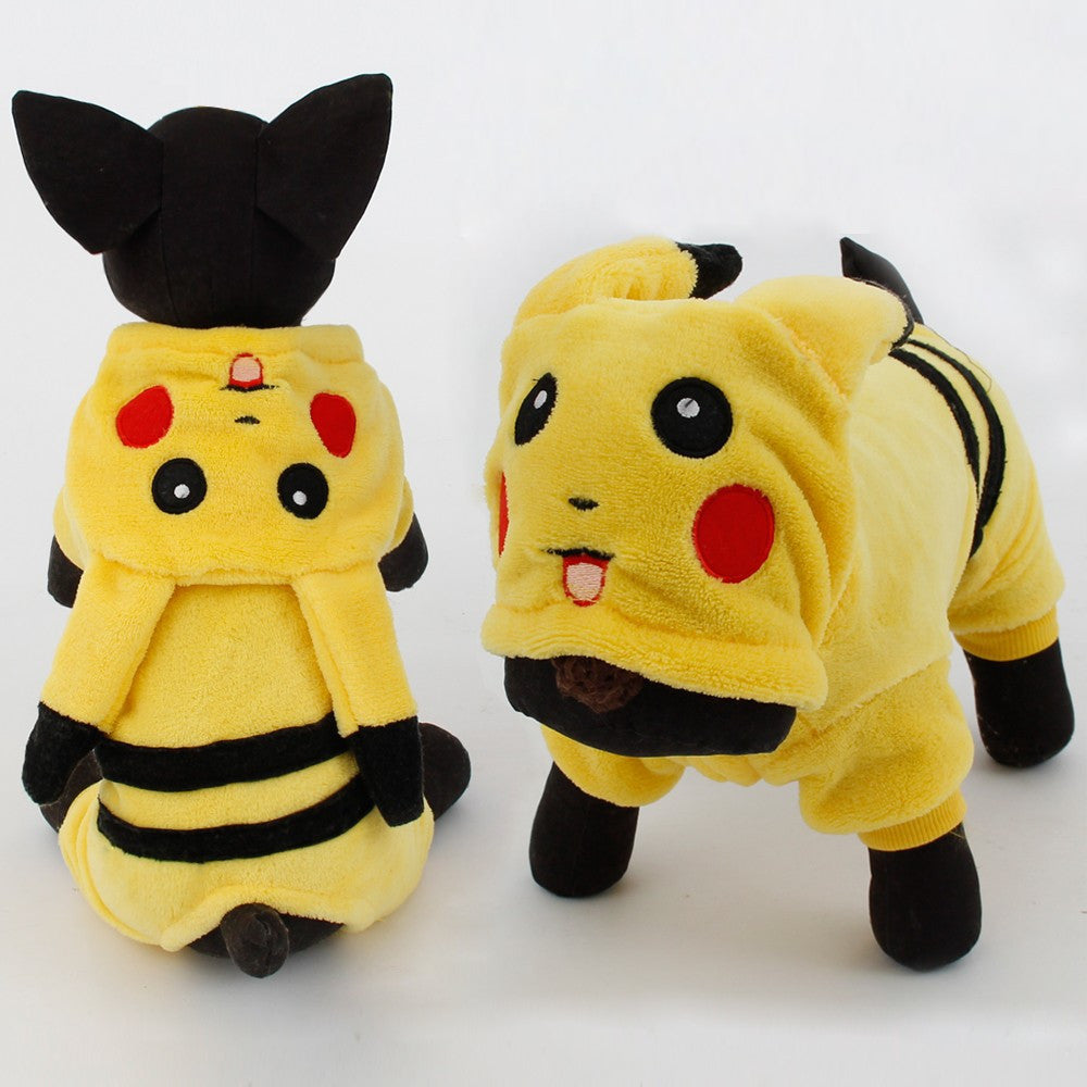 New Arrival Dogs Clothes Cute Cartoon Pikachu Design Cosplay Pets
