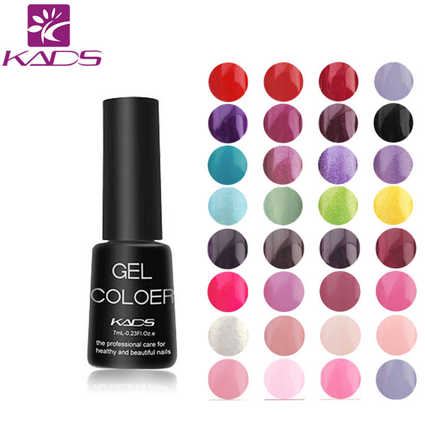 KADS UV Gel Nail Polish Gel LED UV Soak off Gel Lacquer 7ml Long