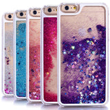 Dynamic Liquid Glitter Sand Quicksand Star Cases For iphone 4 4S 5 5s SE/6 6s / 7 plus Crystal Clear phone Back Cover phone case