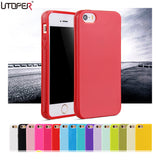 For iphone SE Fashion Candy Colors Jelly Soft TPU Silicone Shock proof Case for Apple iphone 5 5S 5G Cell Phone Protective Cover