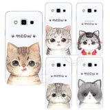 New Fashion Super Cute Cat Hard Case Cover For Samsung Galaxy S3 S4 S5 Mini S6 S7 Edge Note 2 3 4 5 A3 A5 A7 A8 J1 J5 J7